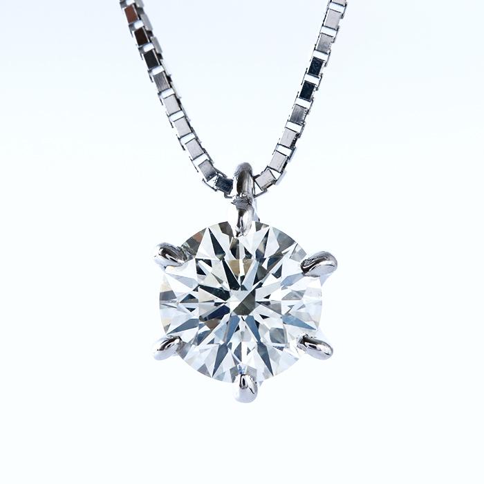 天然ダイヤモンド0.520ct SIクラス<br>×プラチナ一粒ダイヤネックレス
