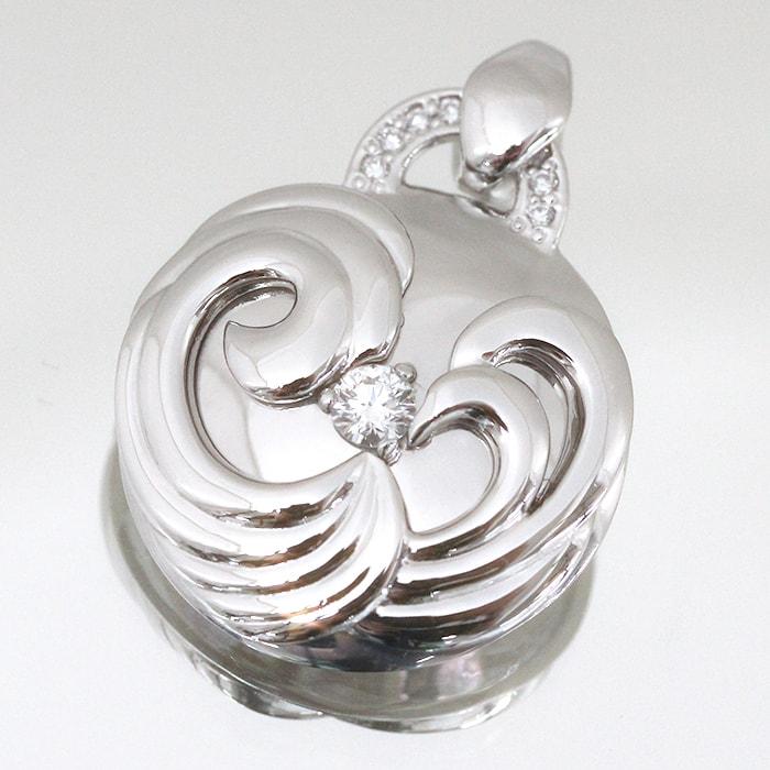 新作ジュエリー!ロシア産 バージンダイヤモンド使用 ペンダントトップ 0.211カラット/カラー G/クラリティ VVS1/カット 3EXCELLENT H&C