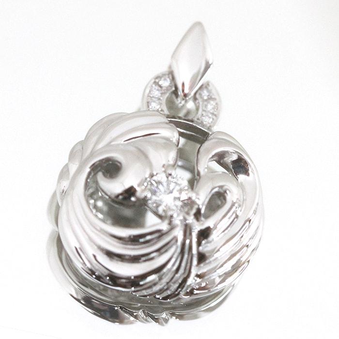 新作ジュエリー!ロシア産 バージンダイヤモンド使用 ペンダントトップ 0.255カラット/カラー G/クラリティ VVS1/カット EXCELLENT H&C