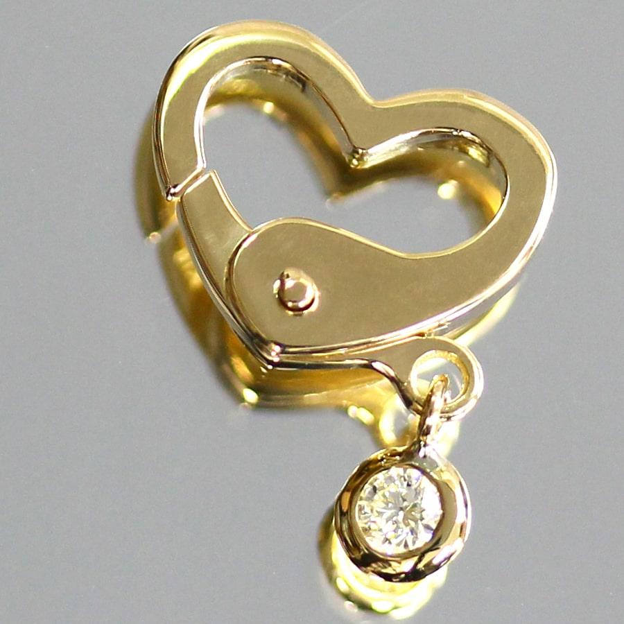 ロシア産天然ダイヤ バージンダイヤモンド 0.05ctUp 1粒 チャーム  3本爪/ベゼル/ハート