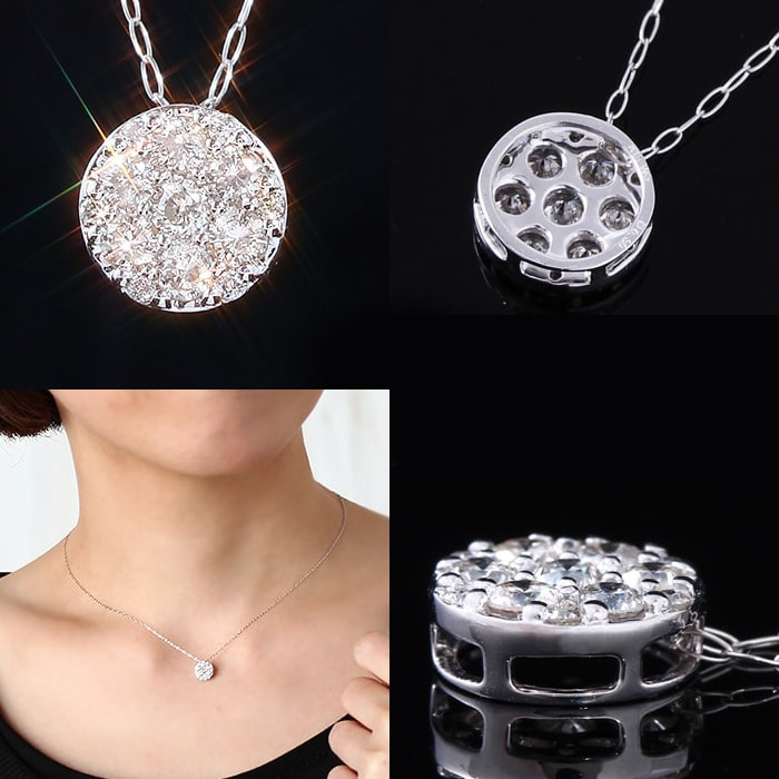 セブンストーンダイヤモンドネックレス