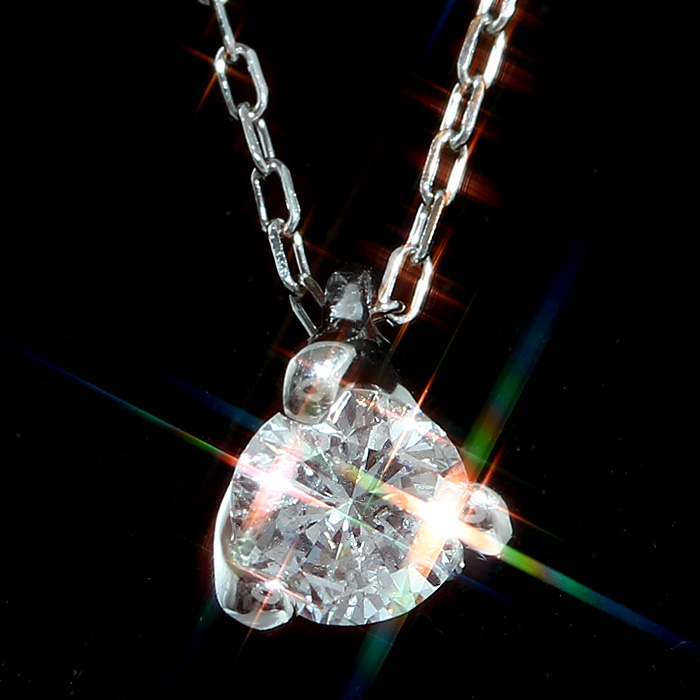 ファミリーセールご優待 天然ダイヤモンド0.2ct×Pt900×Pt850プラチナ1粒ペンダントネックレス レディース 通常価格62,200円から30%OFF
